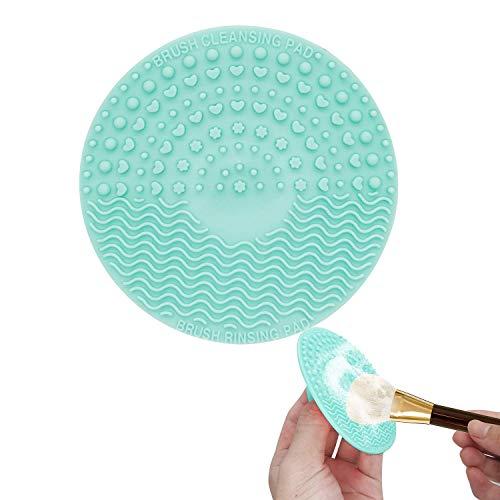 Limpiador de brochas de maquillaje de silicona, almohadillas
