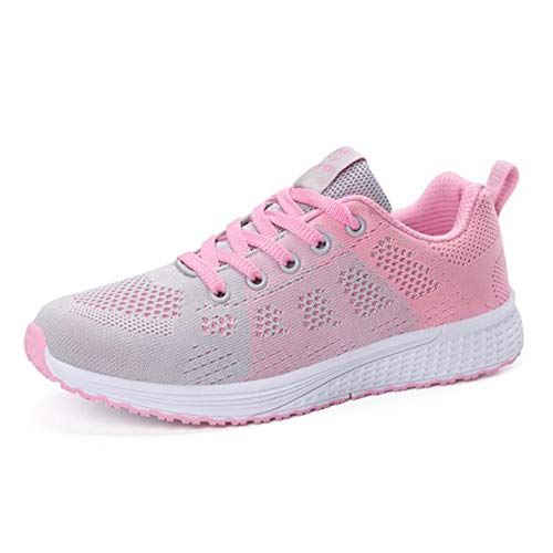 Chlius - Zapatillas de deporte para correr para mujer, ligera, deportiva, con empeine transpirable, todo partido, antideslizantes, zapatos de tenis para correr deportiva
