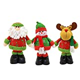 ZMDZA 3PS Christmas Ornaments Gift Santa Claus Snowman Tree Toy Doll Hang Decorations Christmas Decorations for Home New Year