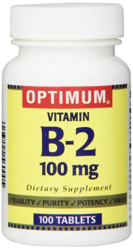 Optimum Vitamin B-2 Tablets, 100 Mg, 100 Count