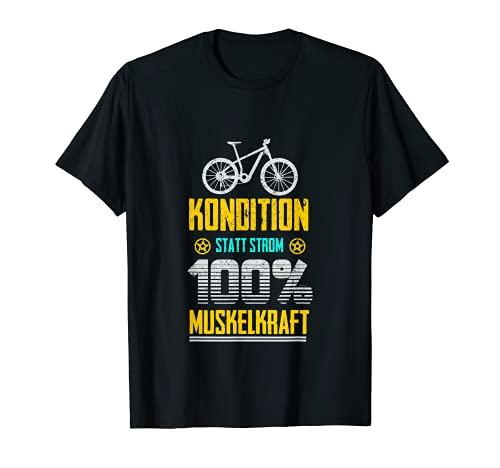 Bicicleta eléctrica en lugar de electricidad. Camiseta