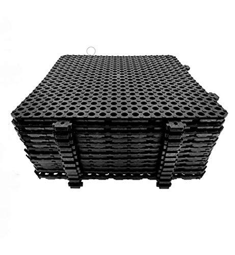 Losa tarima desmontable Náyade Block 30x30 NEGRA - Pack 12 Uds. Ideal para vestuarios, piscinas, jardines, spas, peluquerías caninas.