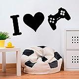 yaonuli J'adore Le Jeu Sticker Mural Joueur Jeu Adolescent Chambre décoration de la Maison Vinyle Autocollant 42X87 cm