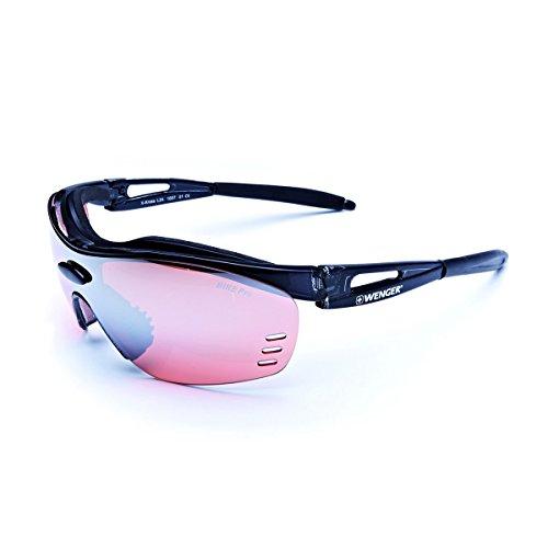 WENGER X-Kross Sportbrille OF1007.01 Cristall Black/Black Lens Bike Pro Active red