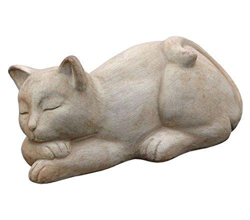 Dehner Dekofigur Katze, schlafend, ca. 32 x 17 x 14 cm, Terrakotta