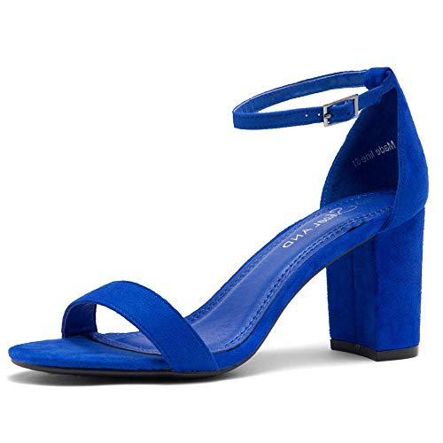 Shoe Land Madeline Women's Open Toe Ankle Strap Chunky Block...