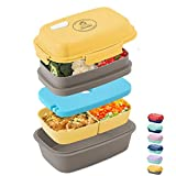Ultimate Bento Box - Lunch Box for Kids & Adults - 100% Leakproof -...