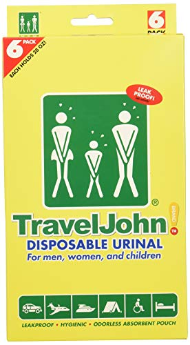 TravelJohnDisposable Urinal 6 Pack