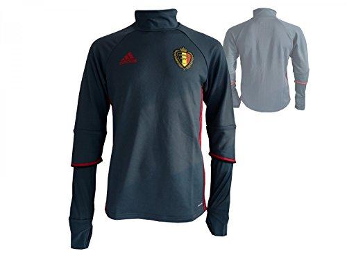 adidas Trainingstop Belgien Fußball Nationalmannschaft Fan Jersey WM 2018, Grau, , XS, AC5771