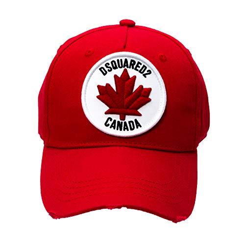 DSQUARED2 D2 Canada - Gorra de béisbol, color rojo