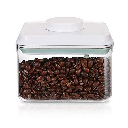 SKY LIGHT Kaffeedose Vorratsdose Behälter mit Deckel POP 1000ml Vakuum Stapelbar Frischhaltedosen Aufbewahrungsdose Luftdicht aus Lebensmittelqualität Polyäthylen Müslidosen BPA frei