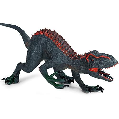 HUSHUI Jurassic Dinosaur Toy para niños, Jurassic Indominus Rex Figuras de acción Simulación de Boca Abierta Dinosaur World Animales Modelo Niños Juguete de Regalo
