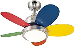 Westinghouse 7247500 Roundabout Two-Light Reversible Five-Blade Indoor Ceiling Fan, 30-
