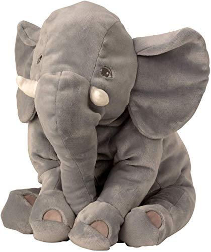 Knuffelzacht olifant knuffel liggend aan de zijkant 50 cm pluche beer knuffel fluweelzacht