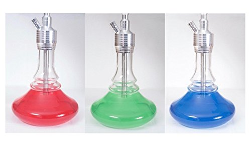 Shisha 3 Set Rot-Blau-Grün-Wassserfarben