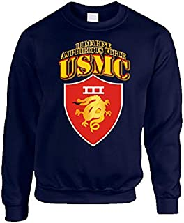 2XLARGE - Usmc - Iii Marine Amphibious Force - Maf Sweatshirt - Navy