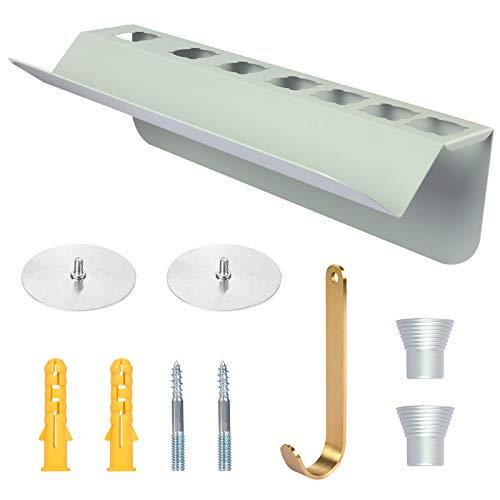 KEESIN Soporte de pared para secador de pelo para rizador de pelo Dyson Airwrap Styler (plata)