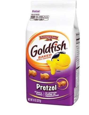 Pepperidge Farm Goldfish, Pretzel, 8-ounce bag (pack of 6)