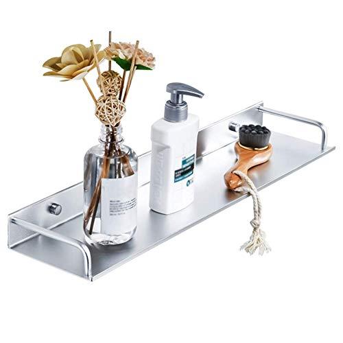 Mr. badkamer plank douche organisator muur gemonteerd Punch vrije ruimte aluminium opslag Rack, 2 installatie methoden, 6 maten (Maat: 50x11.8x4.5cm)