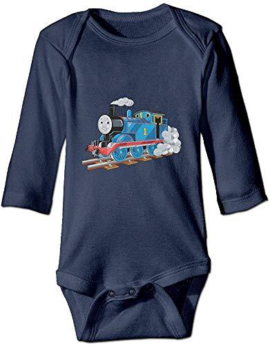 FGRFQ Combinaison Bébé Thomas The Train Unisex Baby Long Sleeve Bodysuit Navy