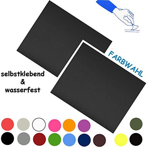 alles-meine.de GmbH 6 Stück _ Reparatur Aufkleber / Flicken - Nylon _ blau / hellblau _ selbstklebend - wasserabweisend & wasserdicht - Sticker / Kleber - für Bekleidung Regenart..