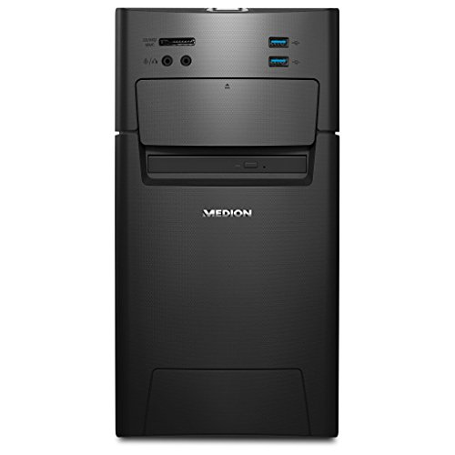 Medion Akoya P5331 - Ordenador de sobremesa (Intel Core i5-6402P, 8GB DDR4 RAM, 1TB HDD, 128GB SSD, AMD Radeon RX460 2GB GDDR5, DVD RW, Hot-Swap, Win 10 Home), color negro