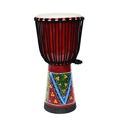 AKOZLIN ジャンベ 12インチ ハンドドラム ミニジャンベ アフリカン楽器 African Style Djembe 打楽器 民族楽器 練習ため 室内装飾 インテリア 楽器 飾り物 初心者 高さ60cm