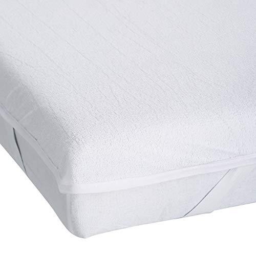 Kinzler Matratzenschutz, Betthygiene Auflage, Baumwoll-Mischgewebe, weiß, 140 x 200 x 0.2 cm