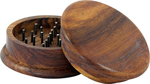 """Wooden Herb Grinder Classic : 2"""" Inch"""