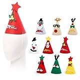 15 Gorros de Fiesta de Navidad para Niños y Adultos| Fieltro Premium, Reutilizable, Ecol�...