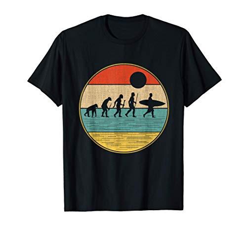 Evoluzione del surf retrò, tavola da surf e regali estivi Maglietta
