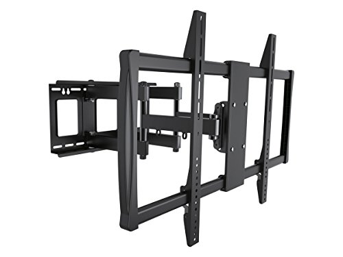 Monoprice Stable Series Full-Motion Articulating TV Wall Mount Bracket for TVs 60in to 100in Max Weight 176 lbs Extends from 2.8in to 24.6in VESA Up to 600x900 Concrete & Brick UL Certified Black