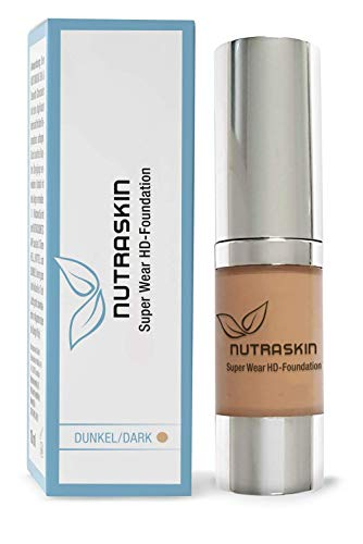 NUTRASKIN Super Wear HD Foundation, long-lasting & waterproof make-up, 15ml (dark/dark)