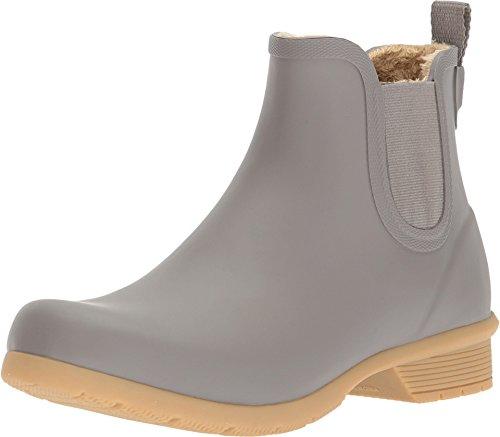 Chooka Women's Bainbridge Fleece Lined Chelsea Bootie Boot, Stone, 10 M US