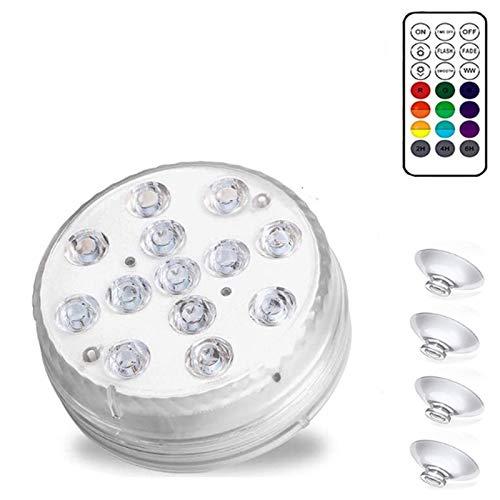 Nirmon Luces LED Sumergibles, Luces Decorativas con Pilas Adecuadas para Acuarios, Piscinas, Estanques