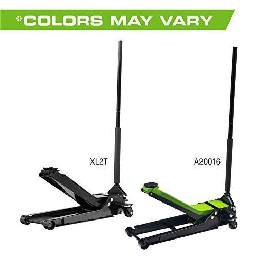 Arcan 2 Ton Extra Long Reach Low Profile Steel Floor Jack A20016 / XL2T, Black