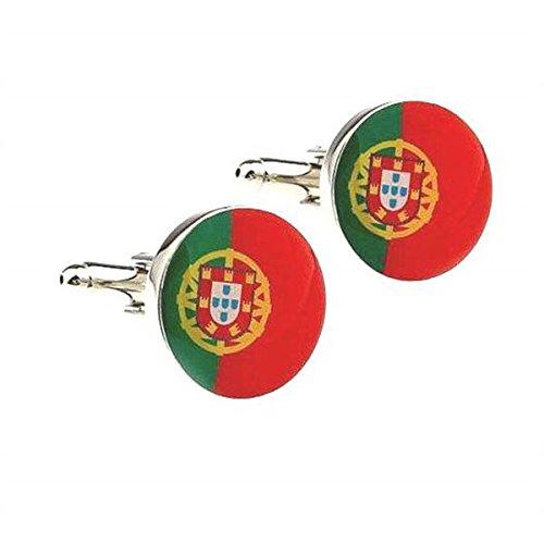 Bouton de manchette drapeau du portugal