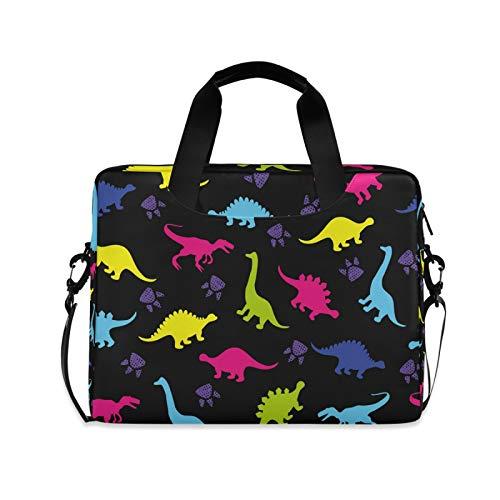 OOWOW Laptop Bag for Women Men Animal Paw Print Dinosaur Lightweight Briefcase 14 15.6 16in Laptop Sleeve Case Computer Shoulder Messenger Bag