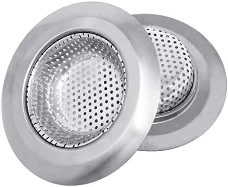 Makerstep 2 Pack of Stainless Steel Sink Drain Strainer Baskets 4 5 Inch Diameter Kitchen Stopper product image