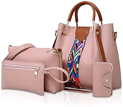 oinna 4 bolsos de mano para mujer, bandolera, bolso de mano, cartera, 25 x 13 x 25 cm, color, talla 25 * 13 * 25 cm/9.84*5.12*9.84 IN