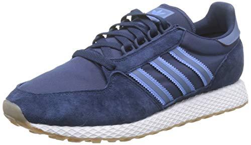 adidas Forest Grove, Zapatillas de Gimnasia Hombre, Azul (Collegiate Navy/Real Blue/Tech Ink Collegiate), 44 2/3 EU