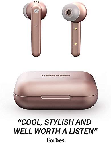 True Wireless Auriculares de Urbanista Paris 20h de reproducción, Estuche de Carga inalámbrico, Bluetooth 5.0 Controles táctiles + micrófono Incorporado Compatible con Android e iOS - Rosa