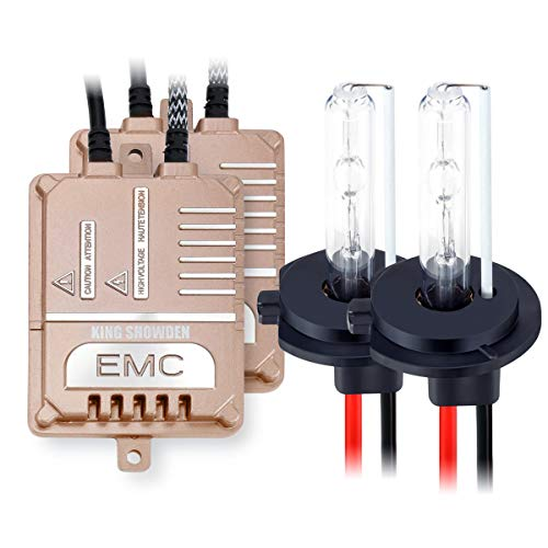 Car H7 HID Conversion Kit 55W, KingShowden Canbus Error Free No Flicker No Warning Digital HID Ballast Xenon Bulbs Kit With Decoder Load Resistor
