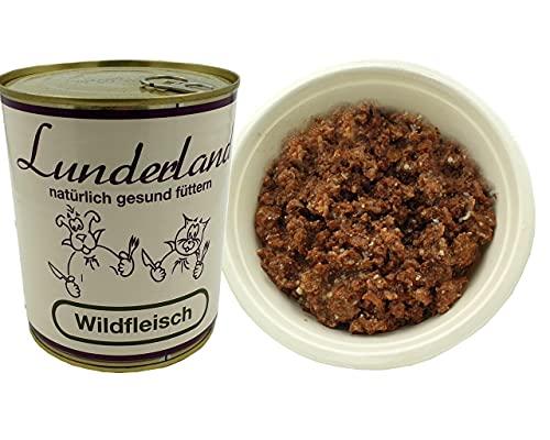 Lunderland-Dosenfleisch-Wildfleisch 2 x 800g (insg. 1,6kg) Einzelfuttermittel für Hunde