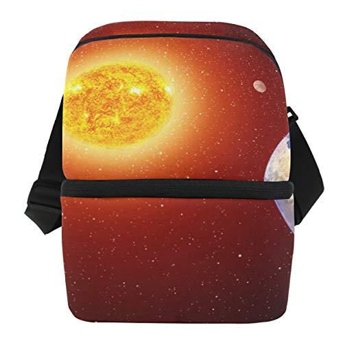 Picknick schouderriem lunchtas organizer ijszak koelbox kunst universeel solar systeem draagbaar