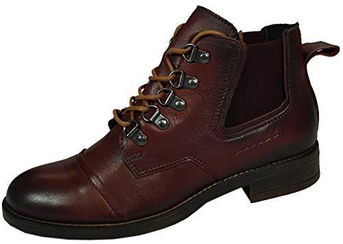 MUSTANG 2872-501 Schuhe Damen Stiefeletten Chelsea Boots, Größe:39 EU, Farbe:Rot