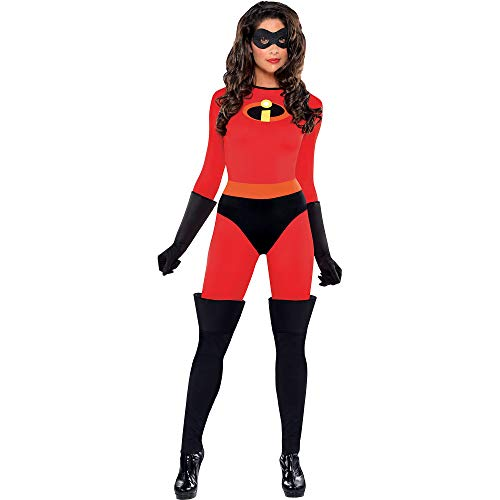 Party City The Incredibles Mrs. Incredible Halloween Costume for Women, Disney, Small (2-4), Includes Mask and Gloves