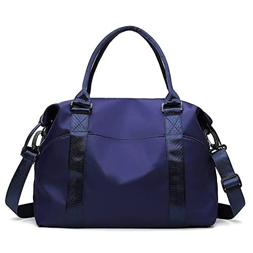 Borsa da viaggio a breve distanza per le donne per trasportare grande capacità leggera sport palestra borsa bagagli borsa da viaggio donna blu