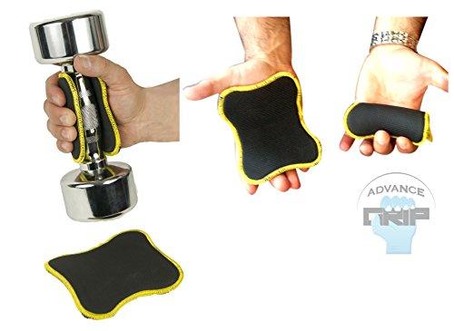 Advance Grip - Multi Fitness But De Levage Double Sided Grips Néoprène 1 Paire Poids De Levage Workout Formation Glove Gants Gym Palm Exercice Men & Women Grip Pad