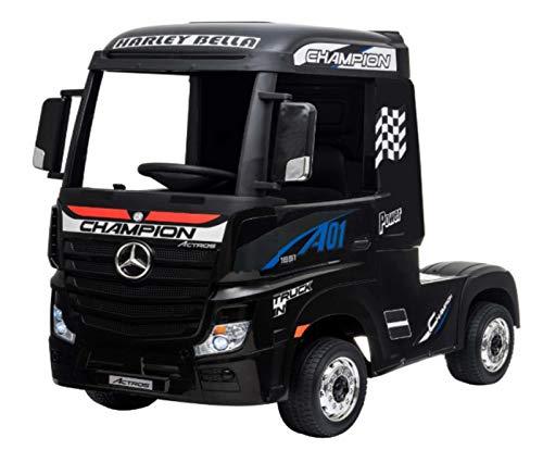 Indalchess Camión eléctrico Infantil Mercedes Actros 12v, 4WD, batería 2x12V7ah, 2.4ghz RC,...